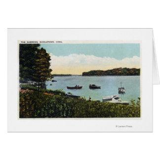 View of Boats at the Narrows Card