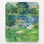 View of Bois de Boulogne by Berthe Morisot Mouse Pad