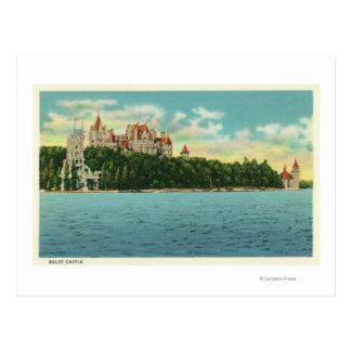 View of Boldt Castle Postcard
