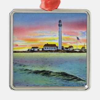 View of Boon Island and Lighthouse from York Christmas Ornament