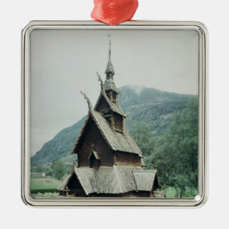 View of Borgund stave church, c.1150 Christmas Ornament