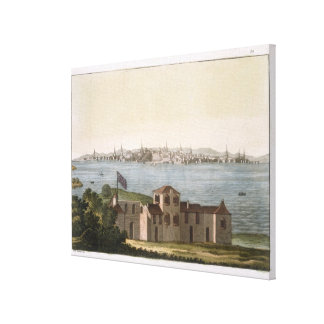 View of Boston, from 'Le Costume Ancien et Moderne Canvas Print