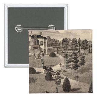View of Brattleboro Vermont 15 Cm Square Badge
