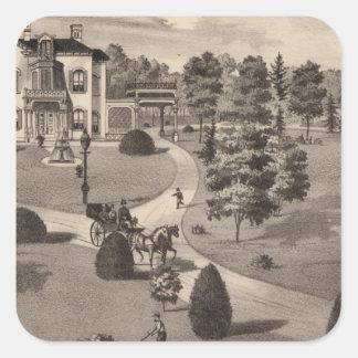 View of Brattleboro Vermont Square Sticker