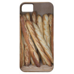 view of bread loaves in bakery window display iPhone 5 covers