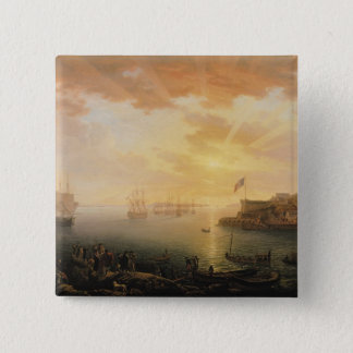 View of Brest Harbour, 1796 15 Cm Square Badge