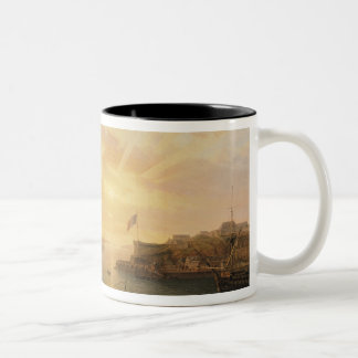 View of Brest Harbour, 1796 Two-Tone Coffee Mug