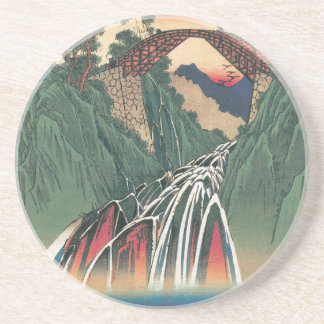 View of Bridge Over Ina River, Nojiri by Hiroshige Coaster