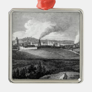 View of Bristol from Pile Hill, engraved by Christmas Ornament