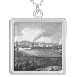 View of Bristol from Pile Hill, engraved by Silver Plated Necklace
