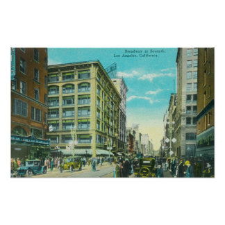 View of Broadway and Seventh Corner Poster