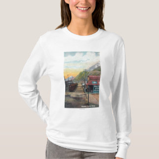 View of Broadway & Railroad CarsSkagway, AK T-Shirt