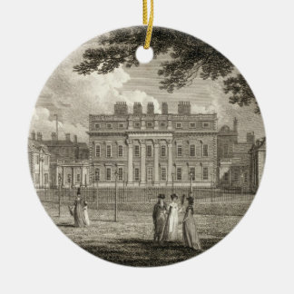 View of Buckingham House, engraved by W. Knight, p Christmas Ornament