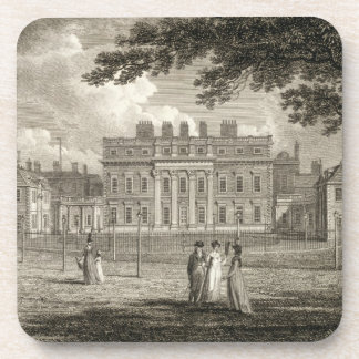 View of Buckingham House, engraved by W. Knight, p Drink Coaster