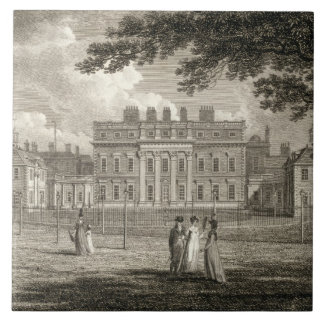 View of Buckingham House, engraved by W. Knight, p Tile