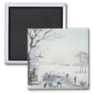 View of Buckingham House, James Park in Winter Magnet
