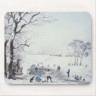 View of Buckingham House, James Park in Winter Mouse Mat