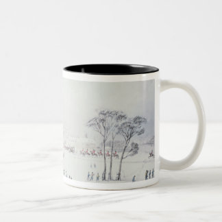 View of Buckingham House, James Park in Winter Two-Tone Coffee Mug