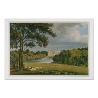View of Burghley House, seat of the Marquis of Exe Poster