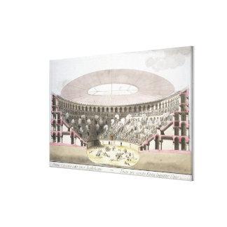 View of Caesar's Amphitheatre (colour litho) Canvas Print