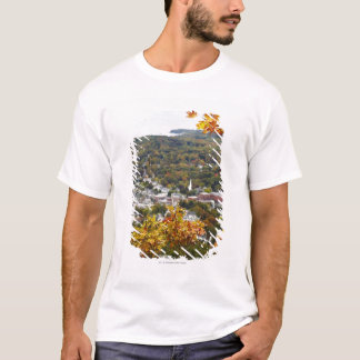 View of Camden Hills State through Fall Trees T-Shirt
