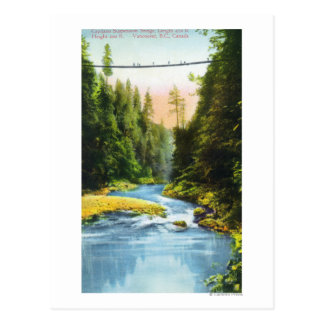 View of Capilano Suspension Bridge # 2 Postcard