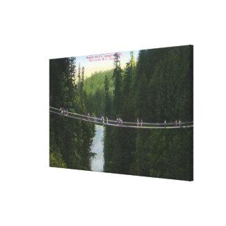View of Capilano Suspension Bridge Canvas Print