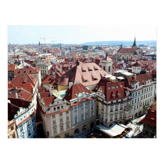View of capital city of Prague in Czech Republic Postcard