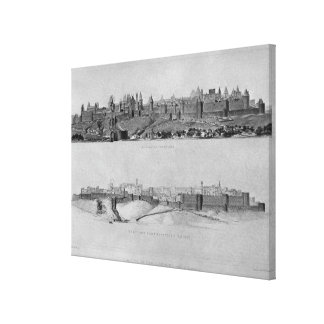 View of Carcassonne from the west side Canvas Print