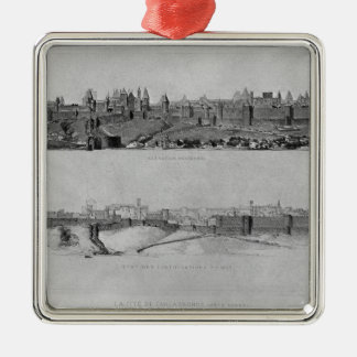 View of Carcassonne from the west side Christmas Ornament