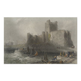 View of Carrifergus Castle Poster