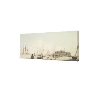 View of Castle Cornet, Guernsey, with Shipping, c. Canvas Print
