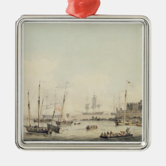 View of Castle Cornet, Guernsey, with Shipping, c. Christmas Ornament