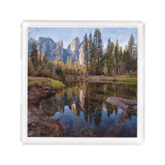 View of Cathedral Peaks Acrylic Tray