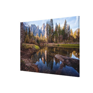 View of Cathedral Peaks Canvas Print