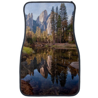 View of Cathedral Peaks Car Mat