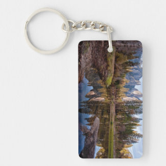 View of Cathedral Peaks Double-Sided Rectangular Acrylic Key Ring