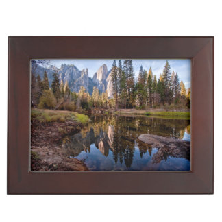 View of Cathedral Peaks Keepsake Box