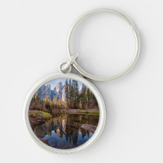 View of Cathedral Peaks Key Ring