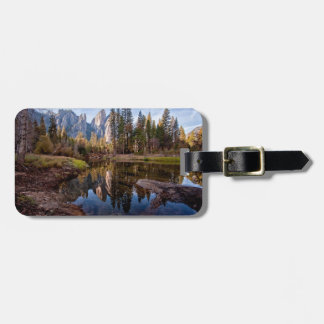 View of Cathedral Peaks Luggage Tag