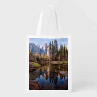 View of Cathedral Peaks Reusable Grocery Bag