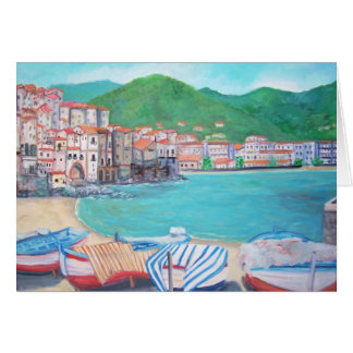 View of Cefalu', Sicily Card