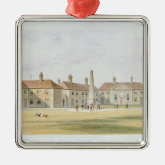 View of Charles Hopton's Alms Houses, 1852 Christmas Ornament