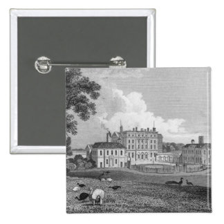 View of Chevening Place, engraved by S. Lacy 15 Cm Square Badge