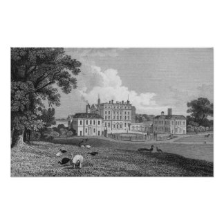 View of Chevening Place engraved by S Lacy Posters