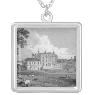 View of Chevening Place, engraved by S. Lacy Square Pendant Necklace