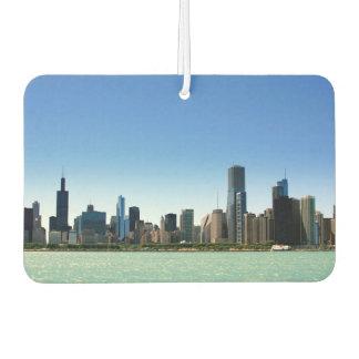 View of Chicago skyline by Lake Michigan Car Air Freshener