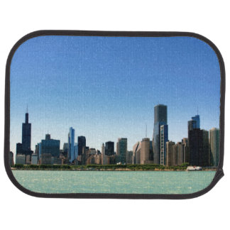 View of Chicago skyline by Lake Michigan Car Mat