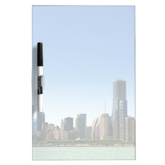 View of Chicago skyline by Lake Michigan Dry Erase Whiteboard