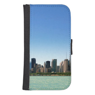 View of Chicago skyline by Lake Michigan Samsung S4 Wallet Case
